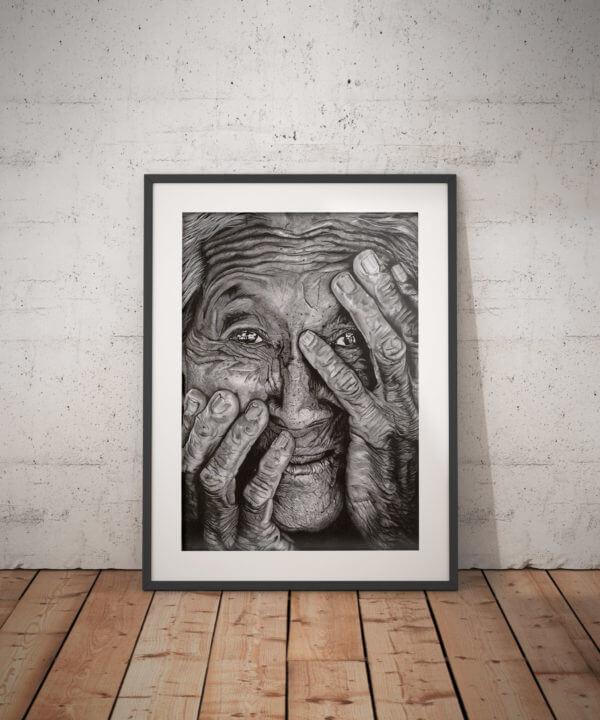 Graphite portrait illustration.