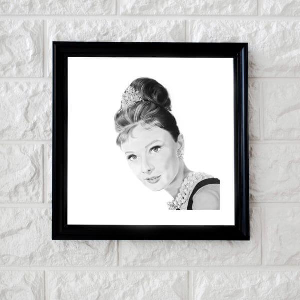 Audrey Hepburn celebrity portrait artwork | Illustration