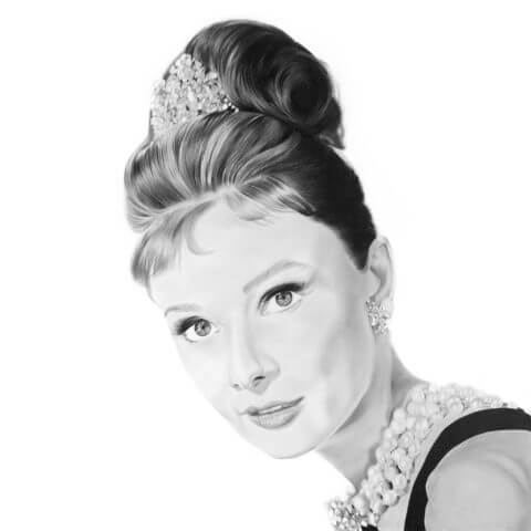 Audrey Hepburn| Celebrity Portrait | Original Fan Art